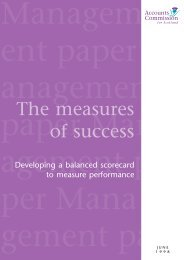 The measures of success (PDF | 224 KB)Opens in ... - Audit Scotland