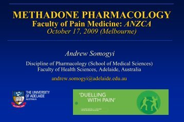 (+)-Methadone - Faculty of pain medicine