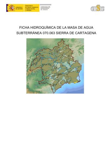 ficha hidroquímica de la masa de agua subterránea 070.063 sierra ...