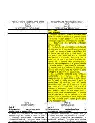 modifiche regolamento assembleare. 01.10.2010