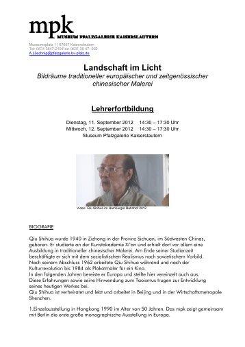 Landschaft im Licht - Pfalzgalerie Kaiserslautern