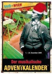 1. – 23. Dezember 2009 - Musikalischer Adventkalender