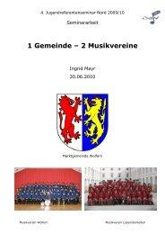 1 Gemeinde – 2 Musikvereine