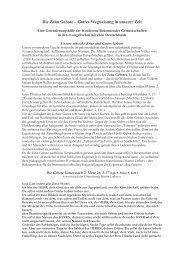 Die Zehn Gebote - Gottes Wegweisung in unserer ... - Institut Diakrisis