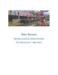Peer Review - The German American School of Portland