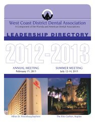 2012-2013 WCDDA Leadership Directory - West Coast Dental ...