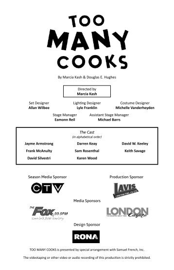 Meet The Company of Too Many Cooks - Drayton Entertainment