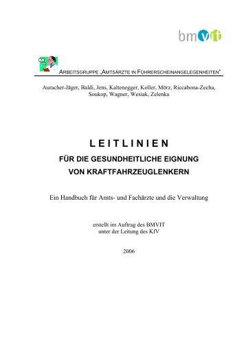 Handbuch - Leitlinien gesundheitliche Eignung - Ärztekammer ...