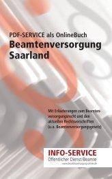Beamtenversorgungsrecht Saarland Stand: Mai 2010