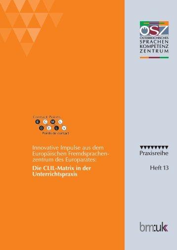 Broschüre zur CLIL-Matrix - Österreichisches Sprachen-Kompetenz ...