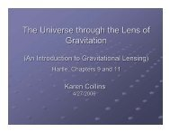 Grav Lensing 2006 - Physics and Astronomy at the University of ...