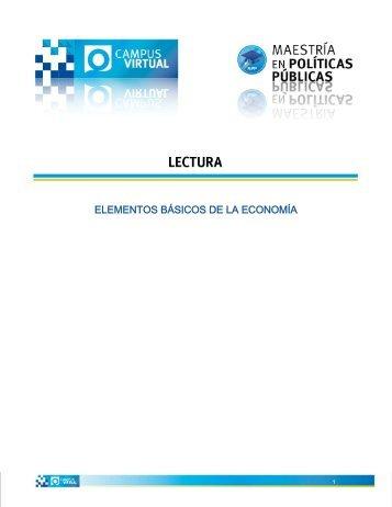 ELEMENTOS BÁSICOS DE LA ECONOMÍA - Universidad de Oriente