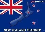 NEW ZEALAND PLANNER - Gapyear.com