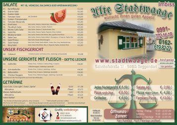 372 16 18 www.stadtwaage.de - Imbiß Alte Stadtwaage