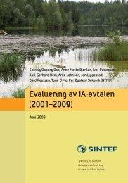Evaluering av IA-avtalen (2001–2009) - Senter for seniorpolitikk