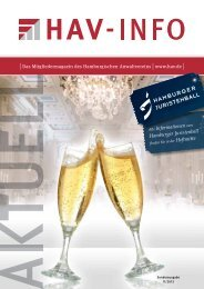 Sonderheft 11/2013 - Hamburgischer Anwaltverein e.V.