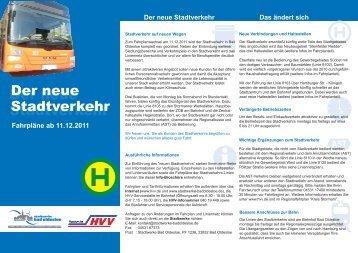Der neue Stadtverkehr - Stadtwerke Bad Oldesloe