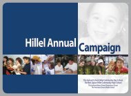 Hillel Annual - Partnership for Excellence in Jewish Education