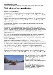 Jahresbericht 2004 / 2005