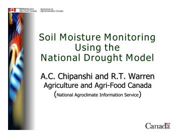 Soil Moisture Monitoring Using the National Drought Model