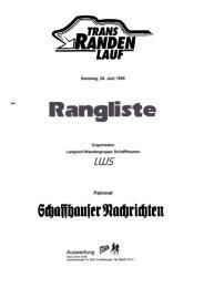 Rangliste 1995 - LWS Langlaufwandergruppe Schaffhausen