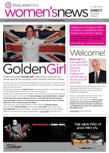 England Golf women's enews issue 54, February 2013
