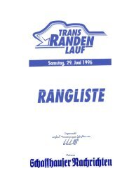 Rangliste 1996 - LWS Langlaufwandergruppe Schaffhausen