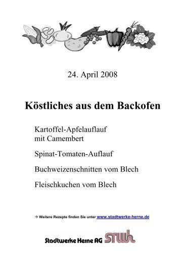 Köstliches aus dem Backofen - Stadtwerke Herne AG