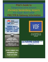 (formerly Vandenberg Airport) for Super Bowl 2009 - FBO, TFR, and ...