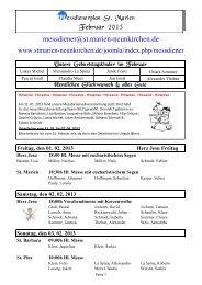 Messdienerplan Februar 2013 - Kath. Kirchengemeinde St. Marien ...