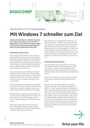 Mit Windows 7 schneller zum Ziel - Digicomp