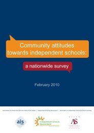 Community Attitudes Towards Independent Schools - Association of ...
