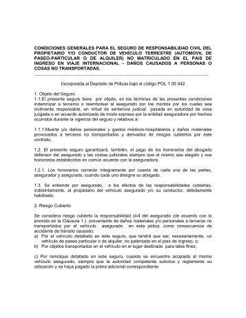 Condiciones generales y particulares - Corpbanca