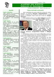 Mardi 11 décembre 2012 - Académie des sciences morales et ...