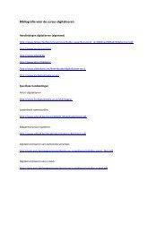 Bibliografie cursus digitaliseren - Heemkunde Vlaanderen