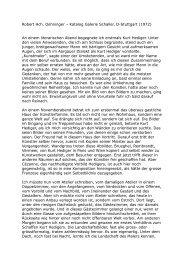 Robert Hch. Oehninger – Katalog Galerie Schaller, D-Stuttgart (1972 ...