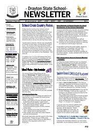 No 5 - 27th Mar - Drayton State School - Education Queensland