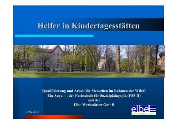 Helfer in Kindertagesstätten - Werkstätten:Messe