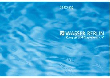 Satzung des Vereins WASSER BERLIN e.V. (PDF, 149,9 kB)