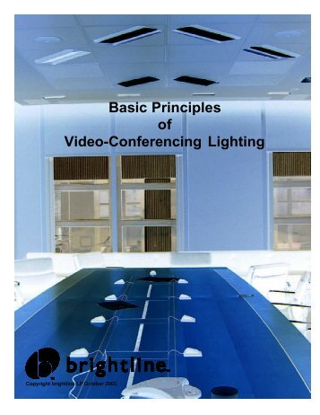 Basic Principles of Video-Conferencing Lighting