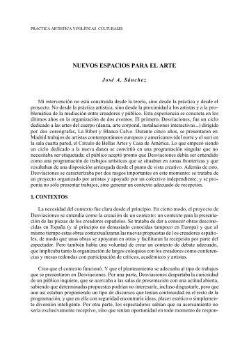 NUEVOS ESPACIOS PARA EL ARTE - Universidad de Murcia