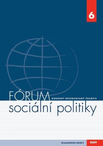 č. 6/2009 - Výzkumný ústav práce a sociálních věcí