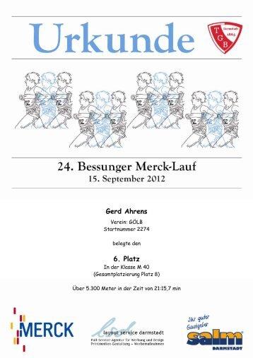 1. Platz - Bessunger Merck-Lauf