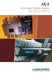 Automatic Transfer Switch from 63 to 3200 A - Tehnounion