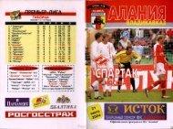 2004.07.21: Алания (Владикавказ, Россия) vs СПАРТАК // Fanat1k.ru