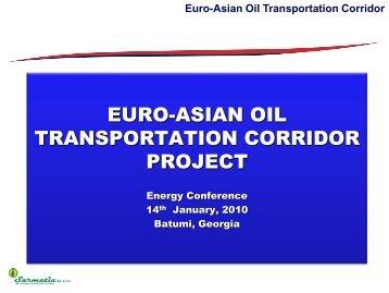 Euro-Asian Oil Transportation Corridor - Українська енергетика UA ...