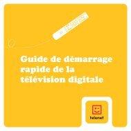 Guide de l'utilisateur télévision digitale ... - Klantenservice