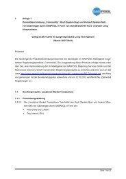 Anlage 1 Produktbeschreibung Regelenergie gültig für ... - GASPOOL