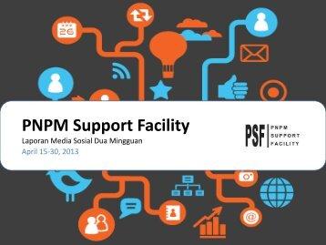 Social Media April 15-30 - PNPM Support Facility