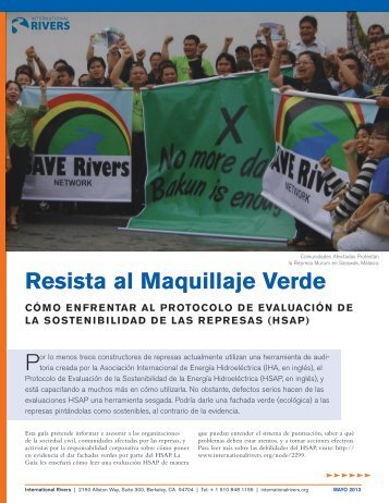 Resista al Maquillaje Verde - International Rivers